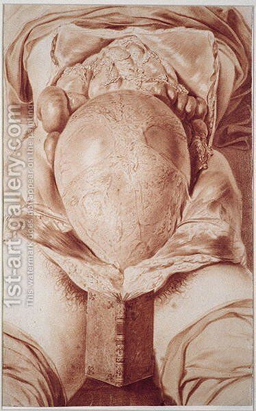 MS Hunter 658 Plate XXVI Drawing from William Hunters 1718-83 Anatomy of the Human Gravid Uterus, 1774 by Jan van Rymsdyk - Reproduction Oil Painting