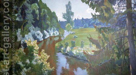 In the Green Banks by Arkadij Aleksandrovic Rylov - Reproduction Oil Painting