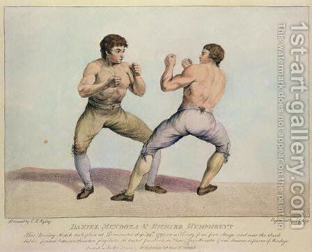 Boxing Match Between Daniel Mendoza and Richard Humphreys, 29th September 1790 by Charles Reuben Ryley - Reproduction Oil Painting