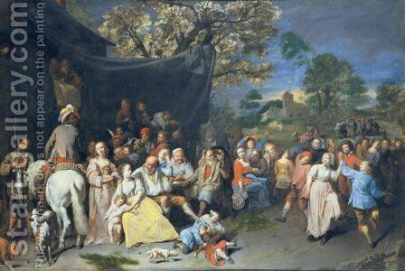 Peasant Festival, 1649 by David The Younger Ryckaert - Reproduction Oil Painting