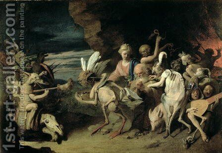 The Temptation of St. Anthony of Egypt by David The Younger Ryckaert - Reproduction Oil Painting