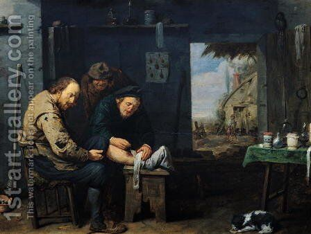 The Surgeon, 1638 by David The Younger Ryckaert - Reproduction Oil Painting