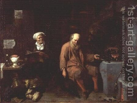 The Alchemist by David The Younger Ryckaert - Reproduction Oil Painting