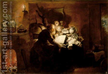 The Alchemist, 1640 by David The Younger Ryckaert - Reproduction Oil Painting