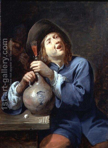 The Singer,1644 by David The Younger Ryckaert - Reproduction Oil Painting