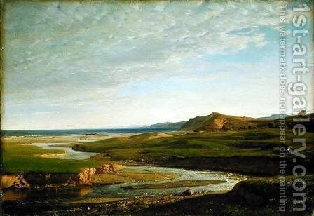 Upstream to the West, c.1860 by Valentin Ruths - Reproduction Oil Painting