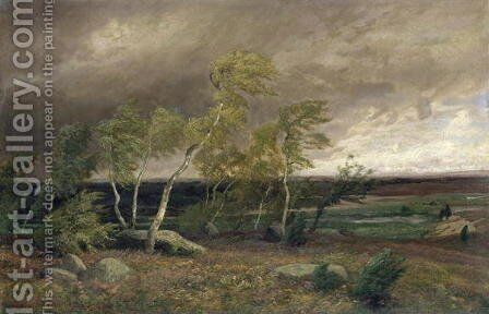 The Heath in a Storm, 1896 by Valentin Ruths - Reproduction Oil Painting