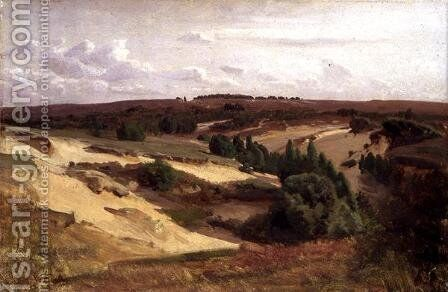 The heath near Bispingen, 1887 by Valentin Ruths - Reproduction Oil Painting