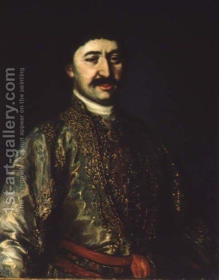Portrait of Prince Garsevan Chavchavadze by Anonymous Artist - Reproduction Oil Painting