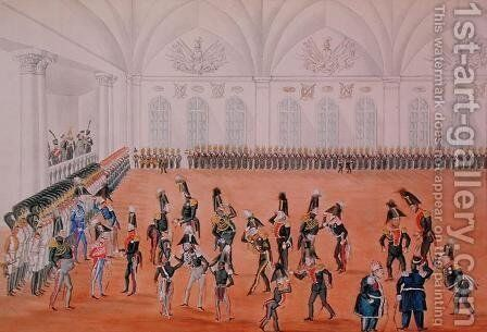 Guard Parade, 1820s by Anonymous Artist - Reproduction Oil Painting