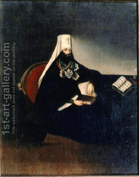 Portrait of the Metropolitan Philaret 1783-1867 by Anonymous Artist - Reproduction Oil Painting