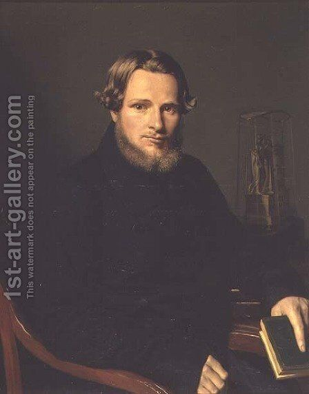 Portrait of Pyotr Vasilievich Filatov, c.1840 by Anonymous Artist - Reproduction Oil Painting