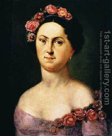Portrait of Avdotia Istomina, 1830s by Anonymous Artist - Reproduction Oil Painting