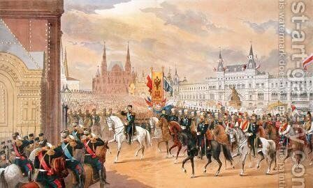 Marriage of Tsar Nicholas to Alexandra, Moscow, 1896 by Anonymous Artist - Reproduction Oil Painting