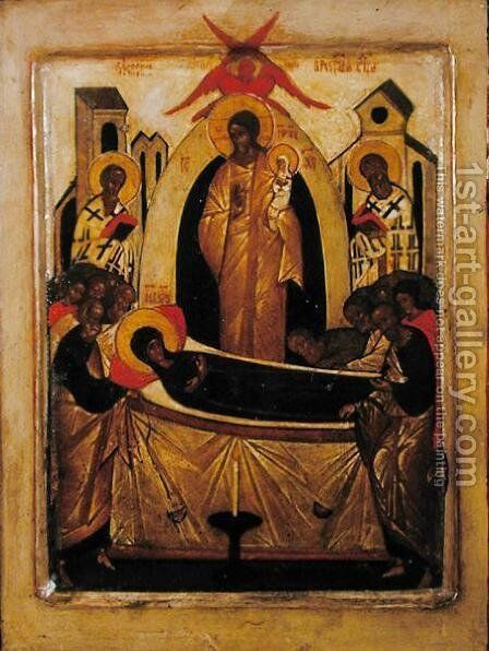 The Dormition of the Virgin 2 by Anonymous Artist - Reproduction Oil Painting