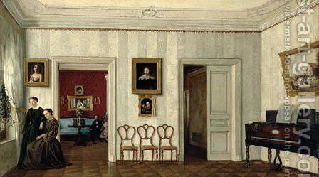 The small hall with the piano by Anonymous Artist - Reproduction Oil Painting