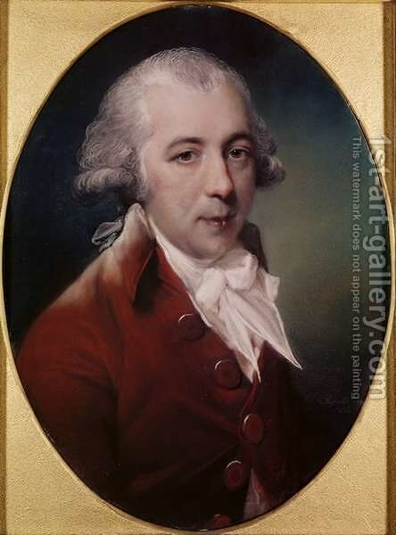 Portrait of Richard Brinsley Sheridan 1751-1816 1788 by John Russell - Reproduction Oil Painting