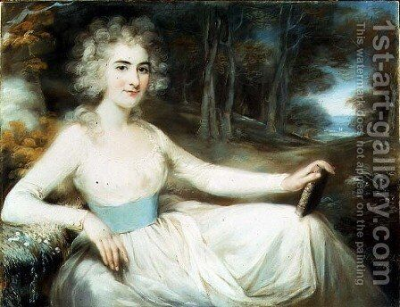 Portrait of Miss Harriet Read, 1789 by John Russell - Reproduction Oil Painting