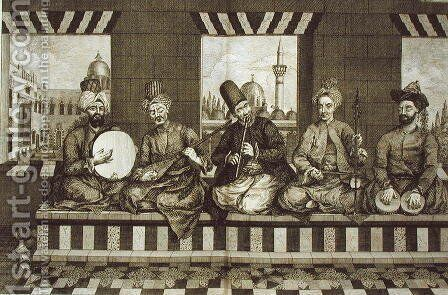 Syrian Musicians, plate 4 from Natural History of Aleppo, pub. by Patrick Russell, 1794 by (after) Russell, Alexander - Reproduction Oil Painting