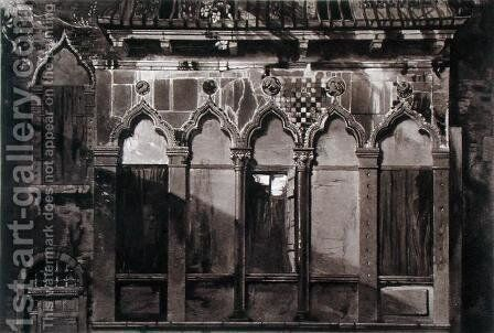 Arabian Windows, In Campo Santa Maria Mater Domini, from Examples of the Architecture of Venice by John Ruskin, aquatint by Thomas Lupton, 1851 by (after) Ruskin, John - Reproduction Oil Painting