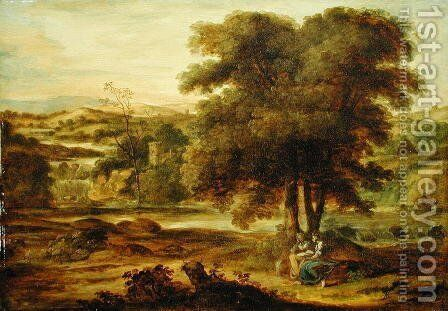 Classical Landscape, c.1767-71 by Alexander Runciman - Reproduction Oil Painting