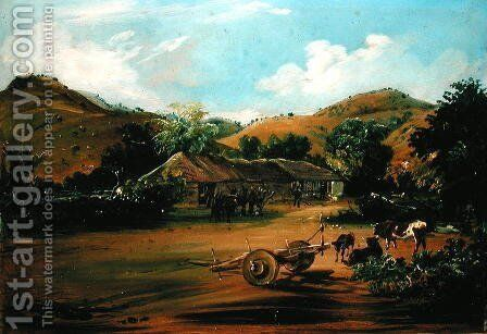 The Painter at the La Huerta Farm, 1835 by Johann Moritz Rugendas - Reproduction Oil Painting