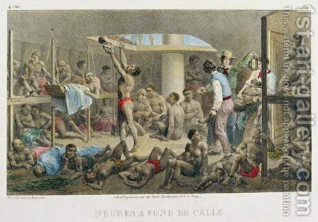 Slaves in the Hold, engraved by Deroi, published by Engelmann and Cie, 1827-35 by (after) Rugendas, Johann Moritz - Reproduction Oil Painting