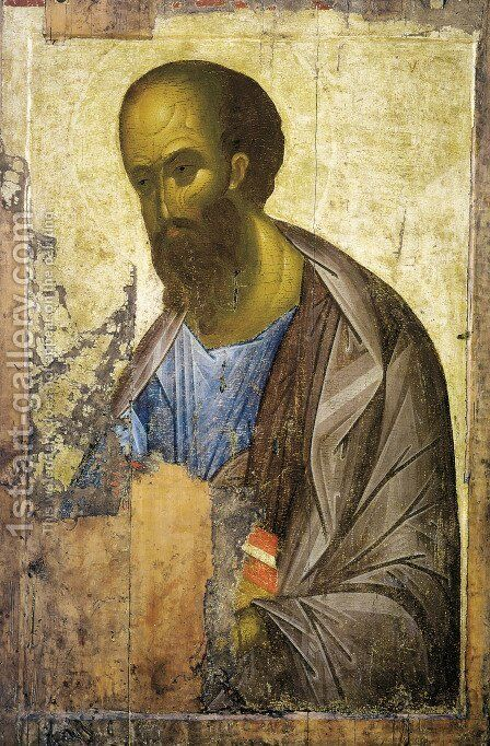 St Paul, 1407 by Andrei Rublev - Reproduction Oil Painting
