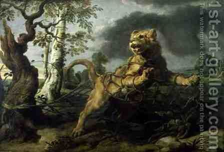 The Lion and the Mouse by and Snyders, F. Rubens, Peter Paul - Reproduction Oil Painting