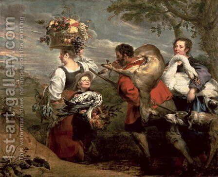 Peasants Going to Market by and Snyders, F. Rubens, Peter Paul - Reproduction Oil Painting