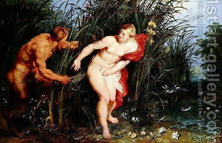 Pan and Syrinx by Brueghel, Jan and Rubens, Peter Paul - Reproduction Oil Painting