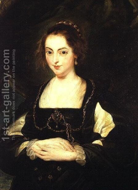 Portrait of a Lady, c.1630 by (studio of) Rubens, Peter Paul - Reproduction Oil Painting