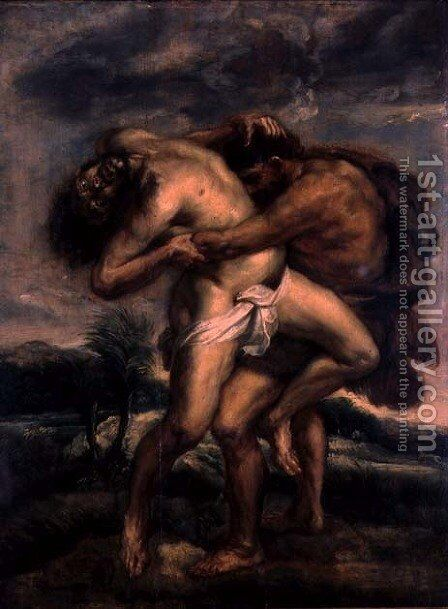 Hercules and Antaeus, c.1622-30 by (attr. to) Rubens, Peter Paul - Reproduction Oil Painting