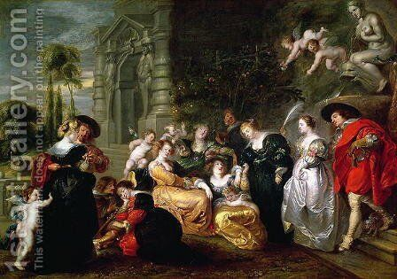 The Garden of Love by (after) Rubens, Peter Paul - Reproduction Oil Painting