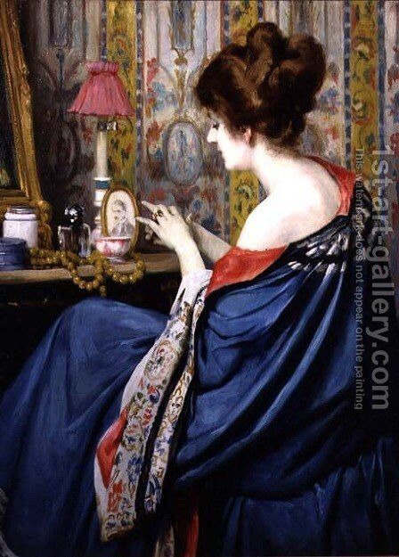 In the Boudoir by Dolf van Roy - Reproduction Oil Painting
