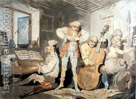 An Italian Family, engraved by Samuel Alken 1756-1815, 1785 by (after) Rowlandson, Thomas - Reproduction Oil Painting