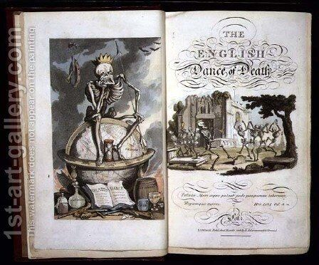 Title page from The English Dance of Death, pub. by R. Ackermann, 1816 by Thomas Rowlandson - Reproduction Oil Painting