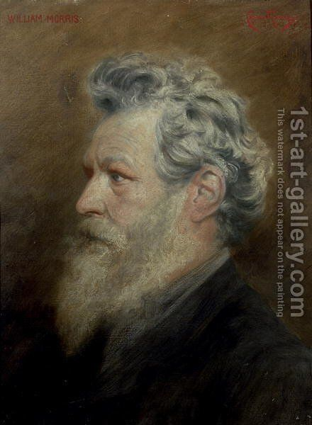William Morris 1834-96, c.1895 by Cosmo Rowe - Reproduction Oil Painting