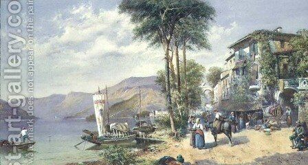 Luvino, Lake Maggiore by Charles Rowbotham - Reproduction Oil Painting