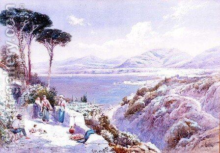 On the Italian Coast, 1902 by Charles Rowbotham - Reproduction Oil Painting