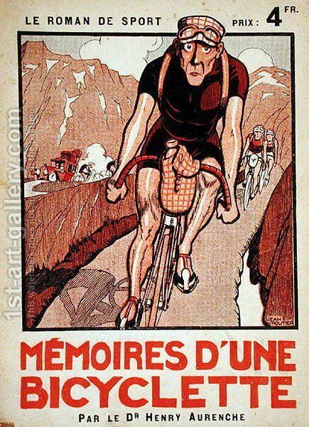 Cover of Memoires dune Bicyclette by Dr. Henry Aurenche by Jean Routier - Reproduction Oil Painting