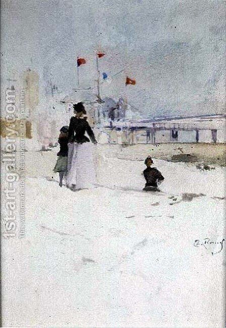 On the Beach by Theodore Roussel - Reproduction Oil Painting