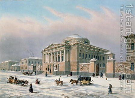 The House of the Tutorial Council in Moscow, printed by Louis-Pierre-Alphonse Bichebois 1801-50, 1840s by (after) Roussel, Paul Marie - Reproduction Oil Painting