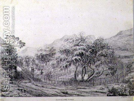 Napoleons Tomb at Longwood on the Island of St. Helena, 1821 by Captain G. Rotton - Reproduction Oil Painting