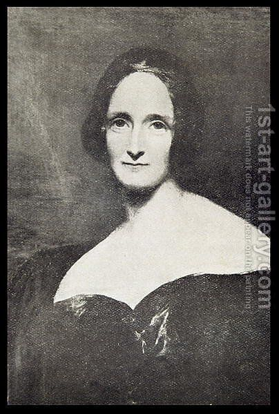 Mary Wollstonecraft Shelley by (after) Rothwell, Richard - Reproduction Oil Painting