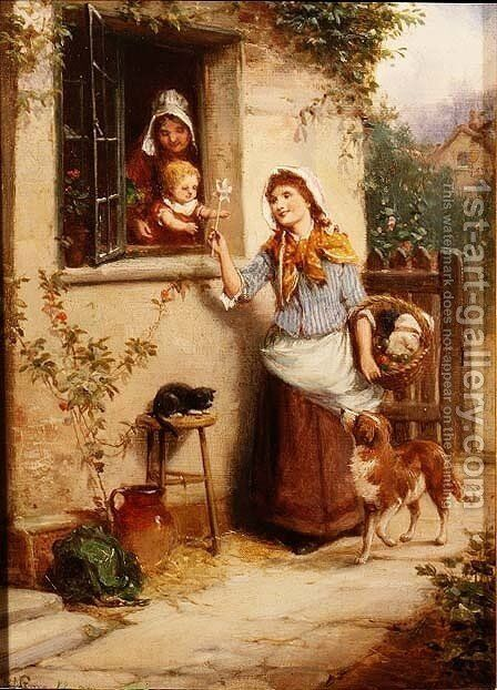 Home From Market by Alexander Rossell - Reproduction Oil Painting