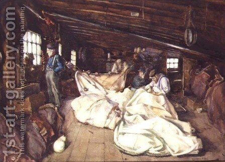 Sailmaking by Christina Ross - Reproduction Oil Painting