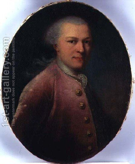 Portrait of Stanislaw Szczesny Potocki 1752-1805, c.1772 by Alexander Roslin - Reproduction Oil Painting