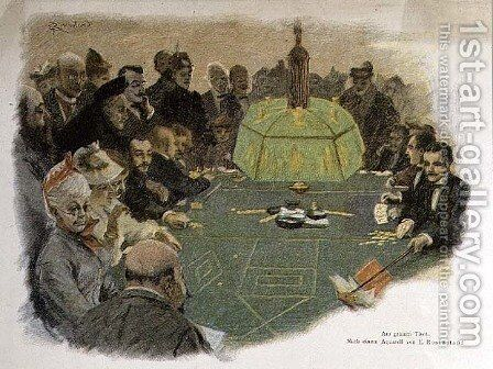 Scene in a Casino by (after) Rosenstand, E. - Reproduction Oil Painting