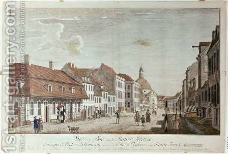 View of Mauer Strasse, Berlin, 1776 by Johann Georg Rosenberg - Reproduction Oil Painting